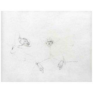 """RAFAEL CORONEL, Untitled, Signed and dated 68, Graphite pencil on paper, 10.6 x 13.1"""" (27 x 33.5 cm)"""
