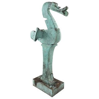 "JUAN SORIANO, El Pato, Signed and dated 1989, Bronze sculpture P / A, 77.1 x 18.5 x 44.4"" (196 x 47 x 113 cm), Certificate"
