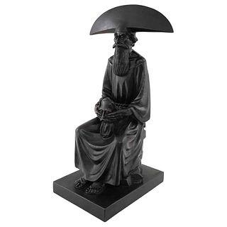 "RAFAEL CORONEL, Moro, Signed, bronze sculpture P / A - II, 23.4 x 12.7 x 12.2"" (59.5 x 32.5 x 31 cm), Certificate"