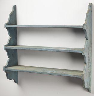 Antique Shelf in original Blue Paint