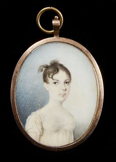 Early Portrait Miniature of a Lady