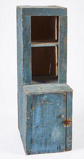Child's Blue Stepback Cupboard