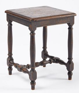 Rare 18th Century Quebec Joint Stool