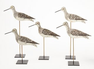 Rig of Five Stick-Up Shorebird Decoys