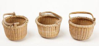 Three Miniature Nantucket Baskets - Reyes