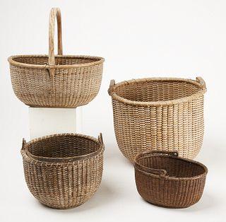 Four Nantucket Baskets