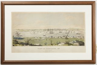 19th Century Print - Portland Maine from Cape Elizabeth
