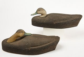 Pair of Oversized Doc Starr Black Duck Decoys