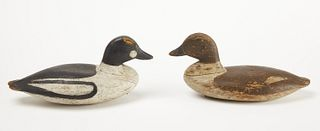 Pair of Goldeneye Decoys - Sam Collins
