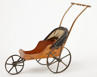 Paint Decorated Doll Carriage
