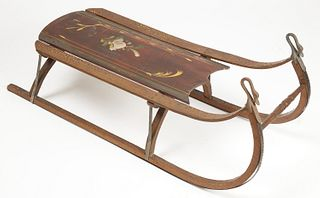 Paint-Decorated Sled