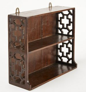 Chinese Chippendale Mahogany Shelf