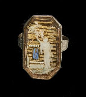 Fine Early Mourning Ring - 1780