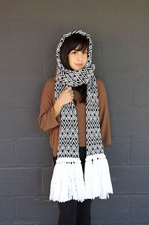 Feather Hoodie Scarf
