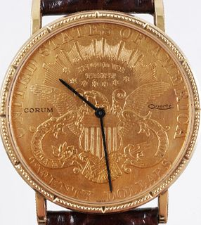 1898 Double Eagle Gold Coin Corum Quartz Watch