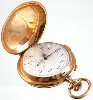 14K Tempora Swiss 1/4 Hour Repeating Pocket Watch