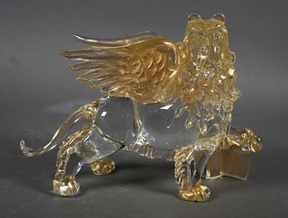 Murano Art Glass Griffon Lion of St Mark