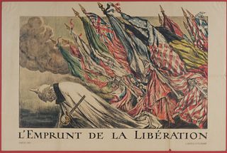 JULES ABEL FAIVRE, WWI French Allies Poster