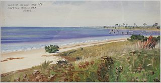 1927 Gulf of Mexico, Florida Painting, Signed