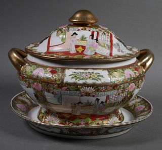 Chinese Rose Medallion Soup Tureen