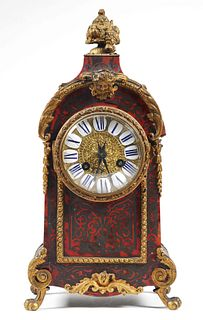Vintage French Boulle Style Mantle Clock