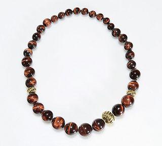 David Yurman Cat's Eye Bead Necklace