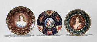 Group of Three European Painted Porcelain Plates