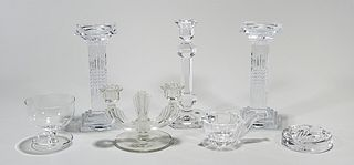 Group of Seven Various Crystal Glassware Pieces