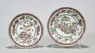 Two Chinese Enameled Porcelain Dishes