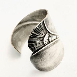 Manhattan Silver on Bronze tray Cuff Bracelet