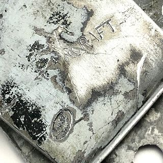Me109 Aircraft Wreckage Money Clip - WWII Aluminum
