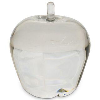 Steuben Crystal Apple Paperweight