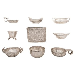 MIXED LOT OF SILVER, MEXICO, 20TH CENTURY Different brands and models Weight: 1264 g 9 pieces