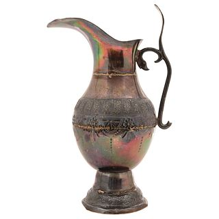 """PITCHER MEXICO, 19TH CENTURY MEXICAN SILVER 13.1"""" (33.5 cm) Weight: 1540 g"""