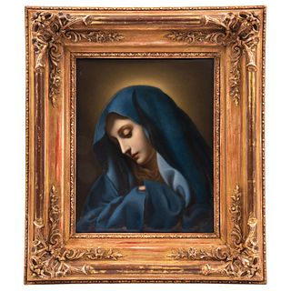 """IN STYLE OF CARLO DOLCI, 1616-1686 MATER DOLOROSA EUROPE, 19TH CENTURY In porcelain K.P.M. Berlín 12.4 x 9.8"""" (31.5 x 25 cm)"""