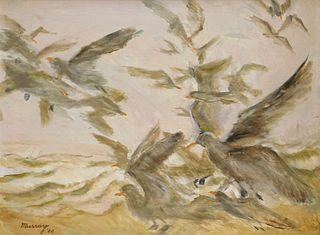 Robinson Murray Modernist Seagulls Painting