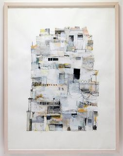 Seth S. Clark Abstract Architecture Painting
