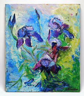 Elaine Kaufman Feiner Abstract Flower Painting