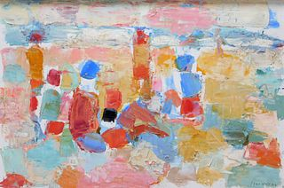 Friso Ten Holt Abstract Expressionist Painting