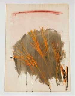 Dorothy Heller Abstract Wheat Painting
