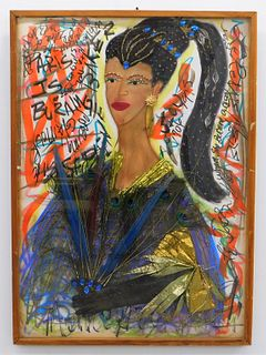 Homage to Josephine Baker Mixed Media Collage
