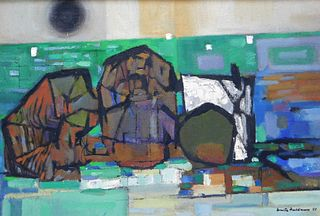 Walter Feldman Abstract Expressionist Painting