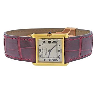 Cartier Bucherer Girod 18k Gold Manual Wind Watch