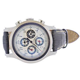 Cuervo Y Sobrinos Robusto Full Calendar Chronograph Watch Ref. 2859