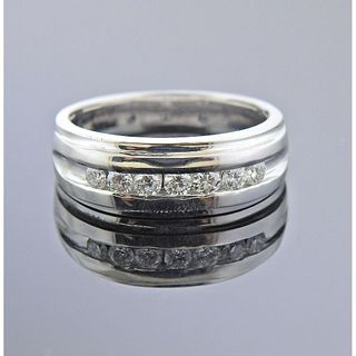 14k White Gold 0.95ctw Diamond Ring