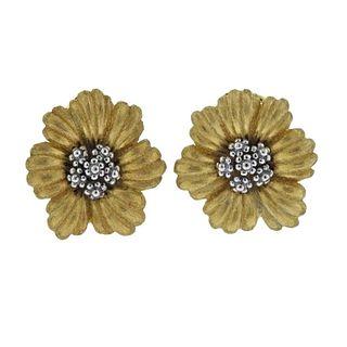 Buccellati Blossoms Flower Gold Earrings