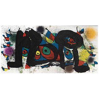 JOAN MIRÓ. Miró Sculptures II, 1974 - 1980. Firmada en plancha. Litografía sin número de tiraje.