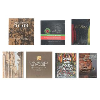 LOTE MIXTO a)Tesoros Artísticos del Museo Nal. Antropología / Memorias en Color / Dinner Whit Jackson Pollock. Pzas: 7.