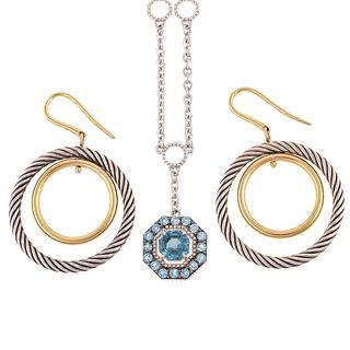 A David Yurman Style Pair of Hoops & Judith Ripka