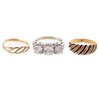 A Trio of Rings in 10K & 14K Yellow Gold